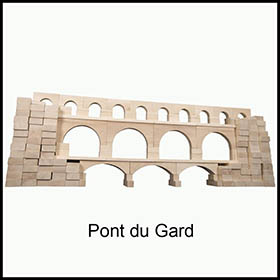 wooden blocks aqueduct