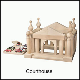 Wooden Blocks Courthouse