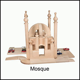 Wooden Blocks:Mosque