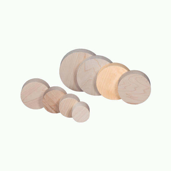 Picture of 4.5 by 1.375 inch  Maple circle/disk
