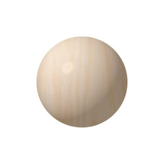 Picture of 2.5 In. solid wooden ball
