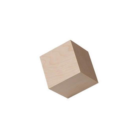 1-1/4 inch hardwood cubes