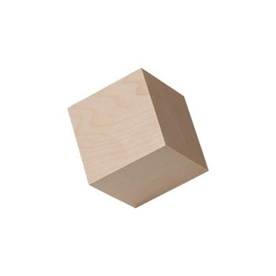 Picture of 1.5 (1-1/2) in.  wooden craft cubes