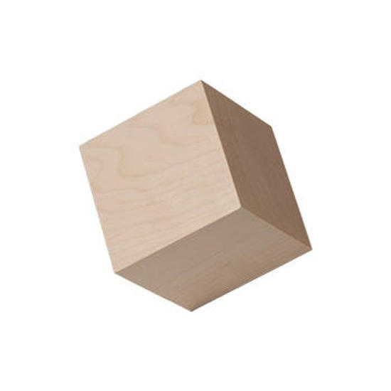Picture of 1.75 (1-3/4) in. wood craft cubes