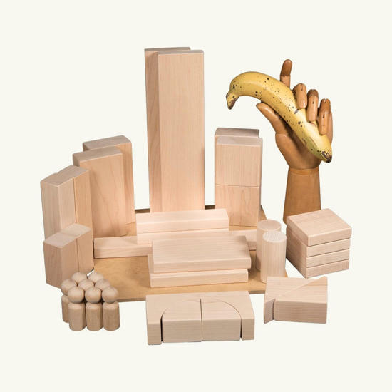 Picture of (INFA16) Small Set of Wooden Blocks Age 3-4