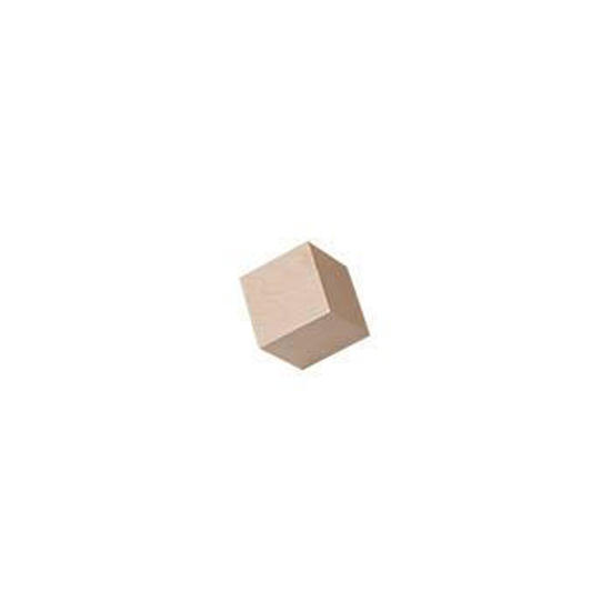 3/8 wooden cube
