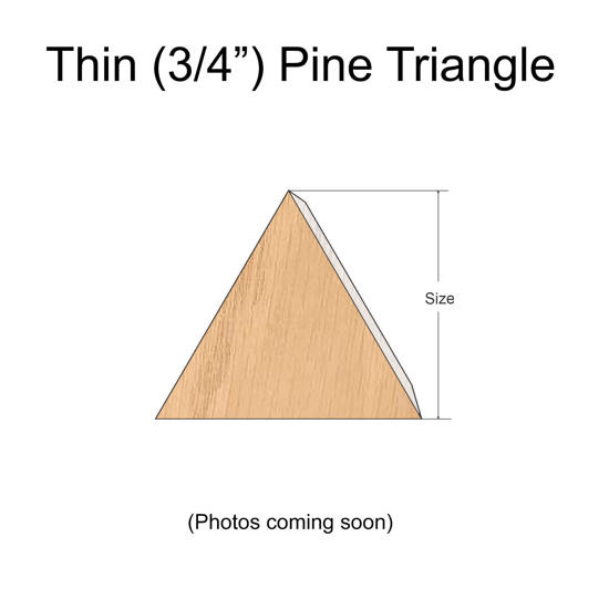 Thin Pine Wood Triangles