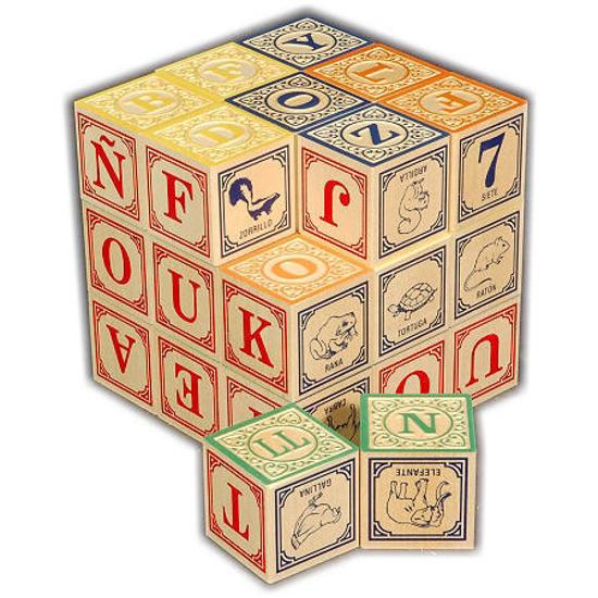 Spanish Alphabet Blocks