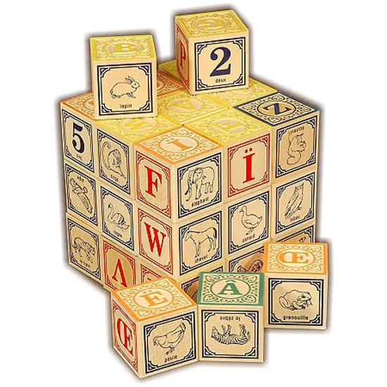 French Alphabet Blocks