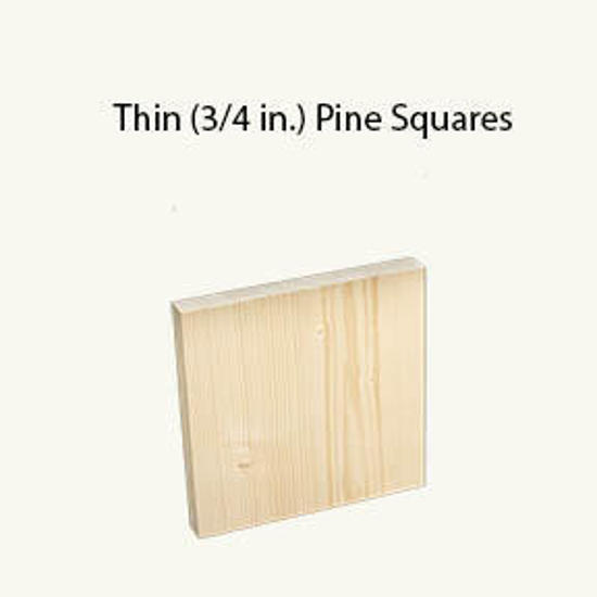"Picture of 3/4 Thick by 2 by 2"" Pine square"