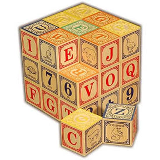 Italian Alphabet Blocks